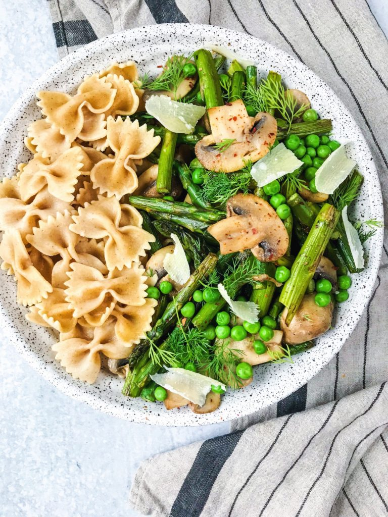 Spring pasta dish - weight loss nutrition myths