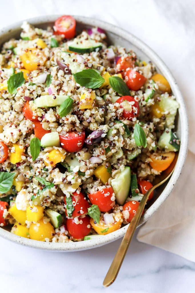 Greek quinoa grain salads