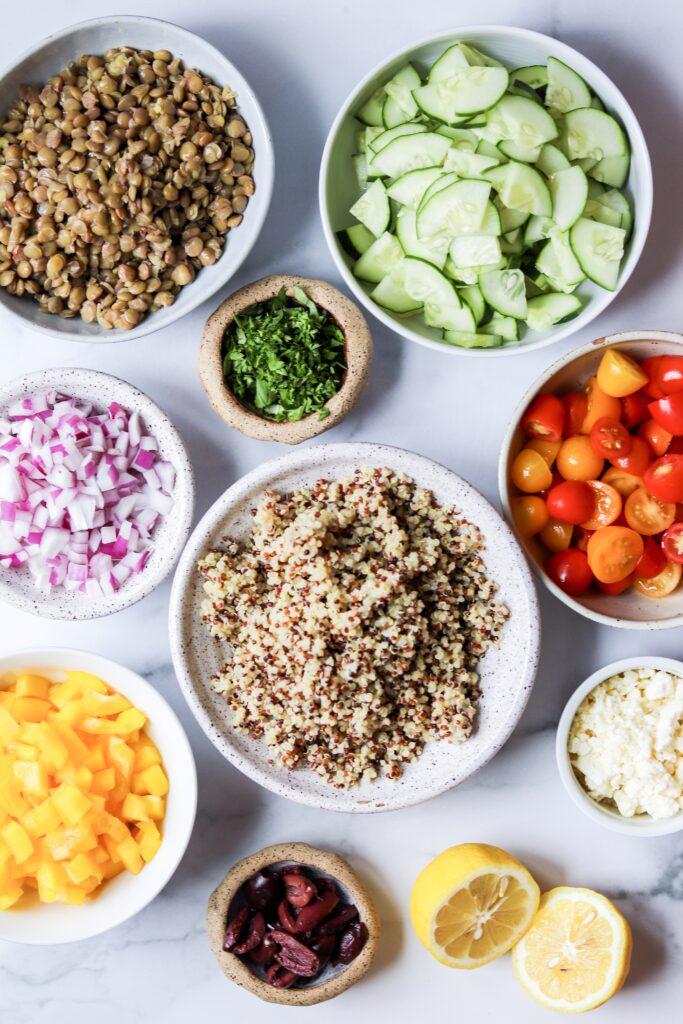 Greek quinoa salad - the mediterranean diet