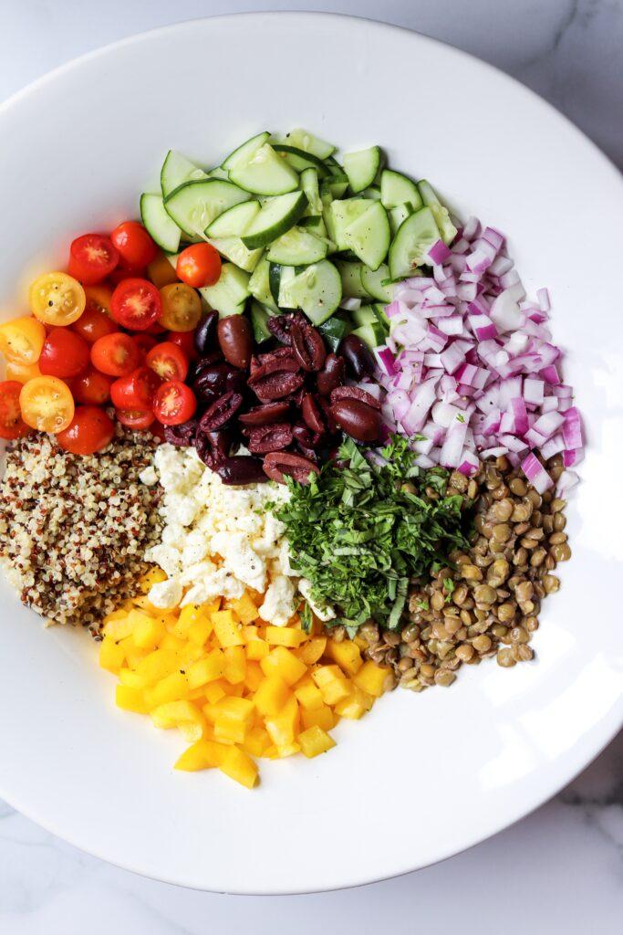 Greek quinoa salad grain salads