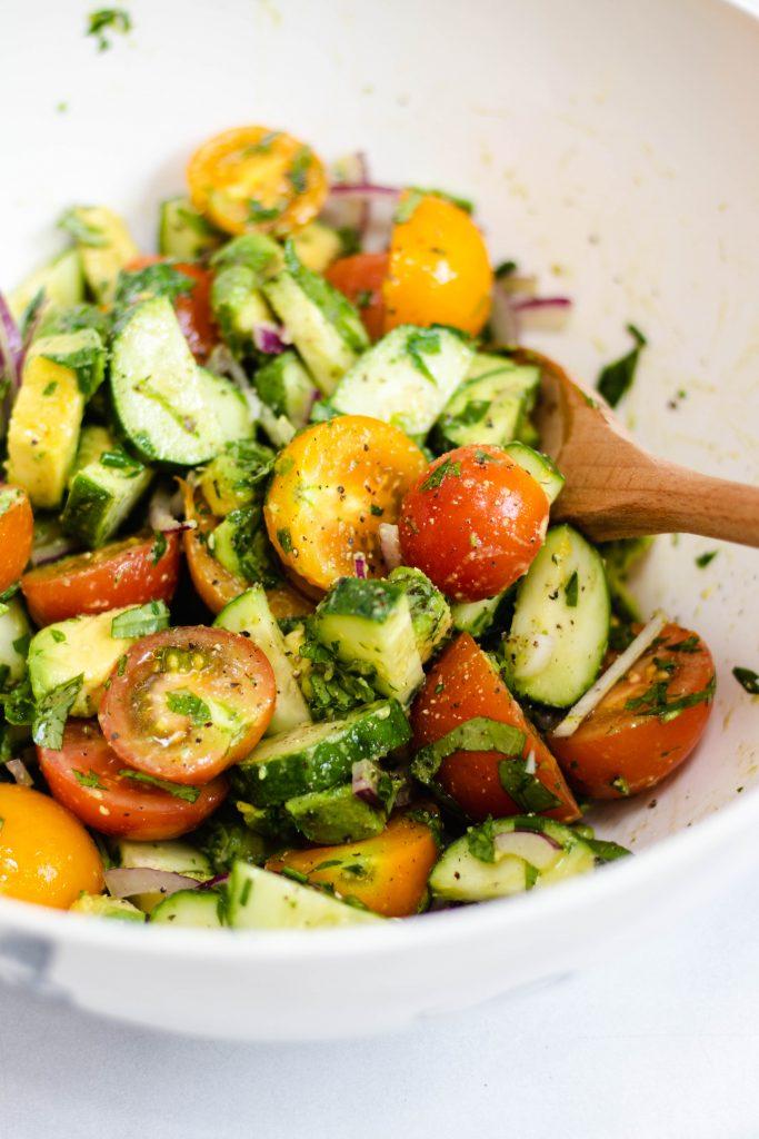 Tomato Avocado Cucumber Salad - Daisybeet
