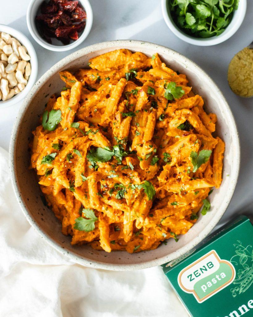 Creamy Sundried Tomato Pasta (Vegan, Gluten Free) - Daisybeet